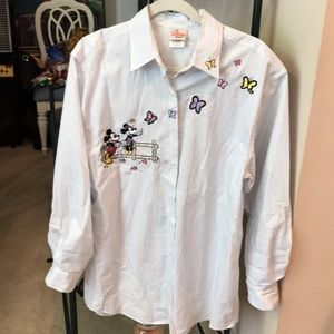 Vintage Mickey and Minnie and butterflies shirt